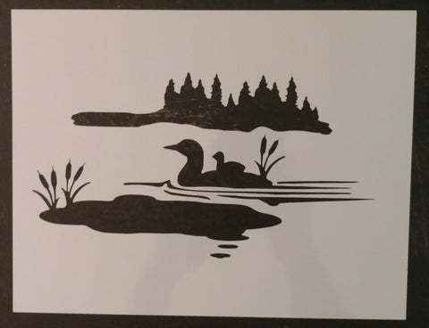 "Duck Ducks Lake Wilderness 11"" x 8.5"" Custom Stencil FAST FREE SHIPPING"