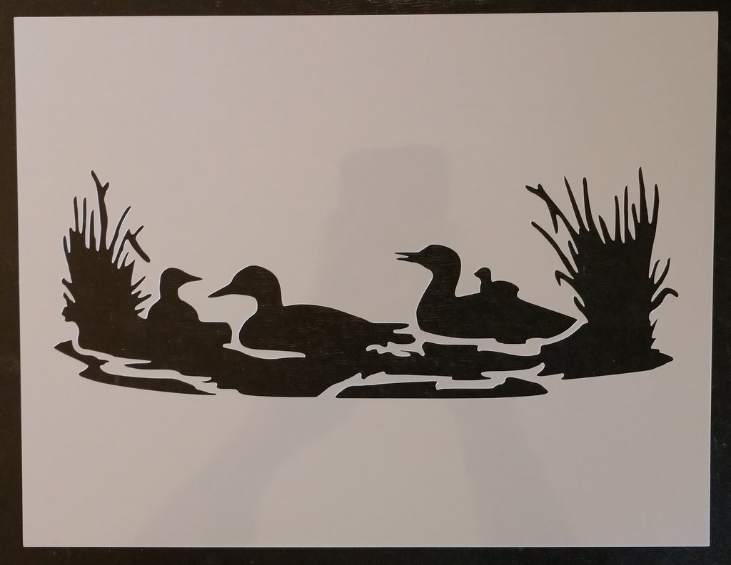 "Ducks Duck Lake Wilderness 11"" x 8.5"" Custom Stencil FAST FREE SHIPPING"