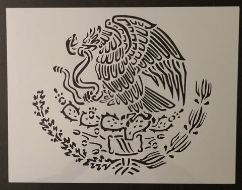 Mexico Mexican Flag Emblem Eagle Custom Stencil