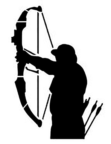 Bow Hunter Hunting Custom Stencil - FAST FREE SHIPPING
