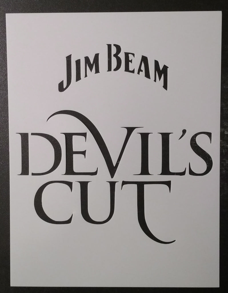 Jim Beam Devil's Cut - Stencil