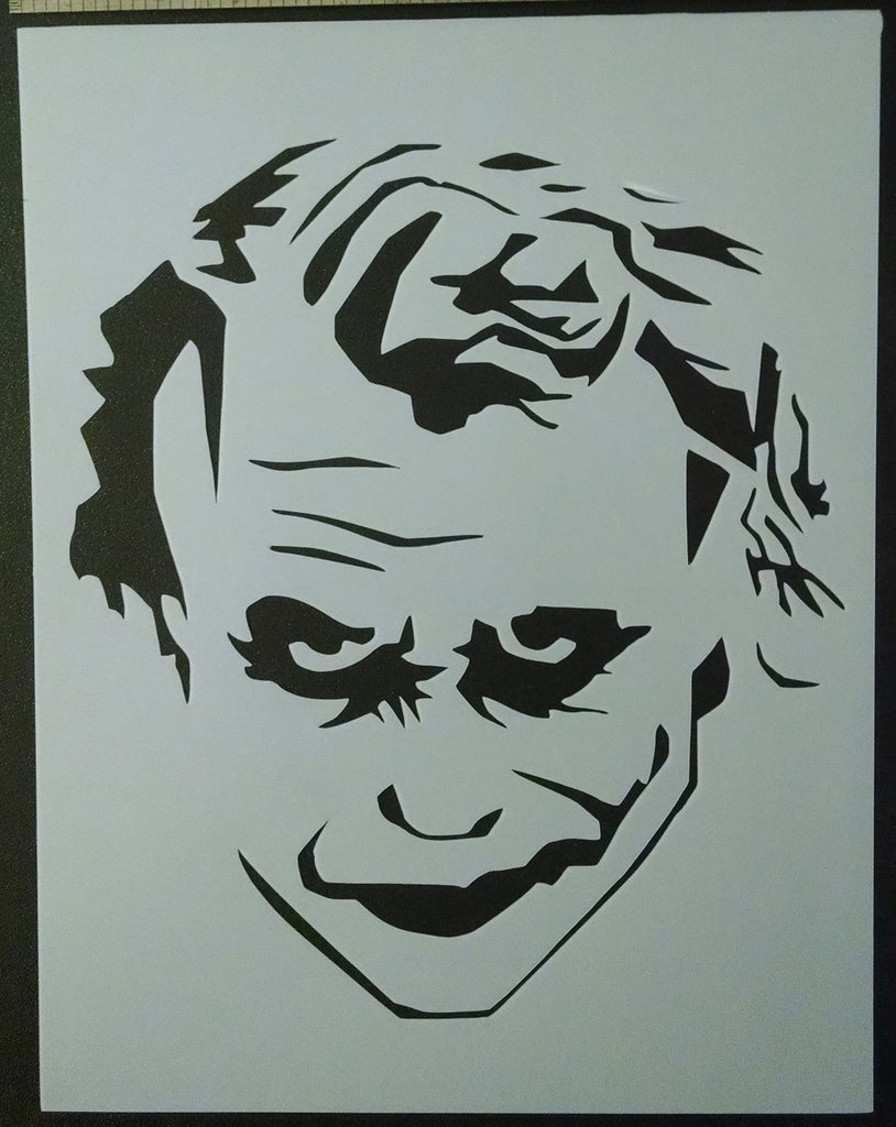 Joker Smile Face - Stencil