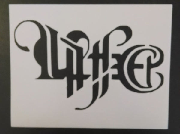 Tribal Tattoo Ambigram Life Death - Stencil