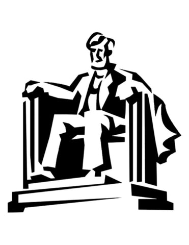 Abraham Lincoln Memorial - Custom Stencil