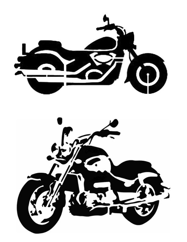 Motorcycles - Stencil