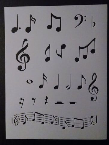 Musical Notes - Stencil