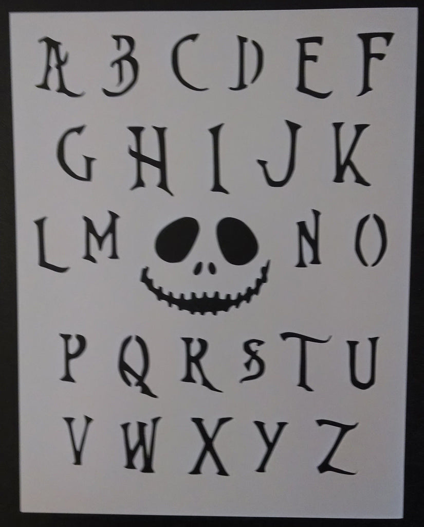 Nightmare Before Christmas Font Alphabet - Stencil – My Custom Stencils