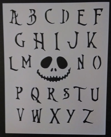 Nightmare Before Christmas Font Alphabet - Stencil