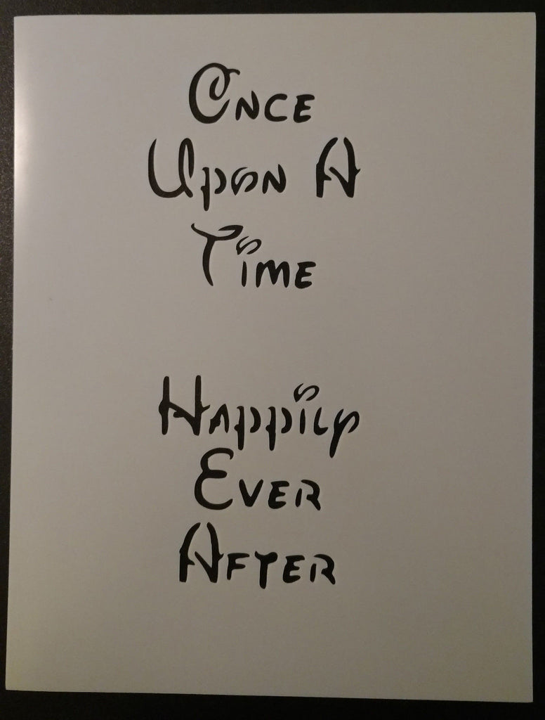 Once Upon A Time Happily Ever After Disney Esque - Stencil