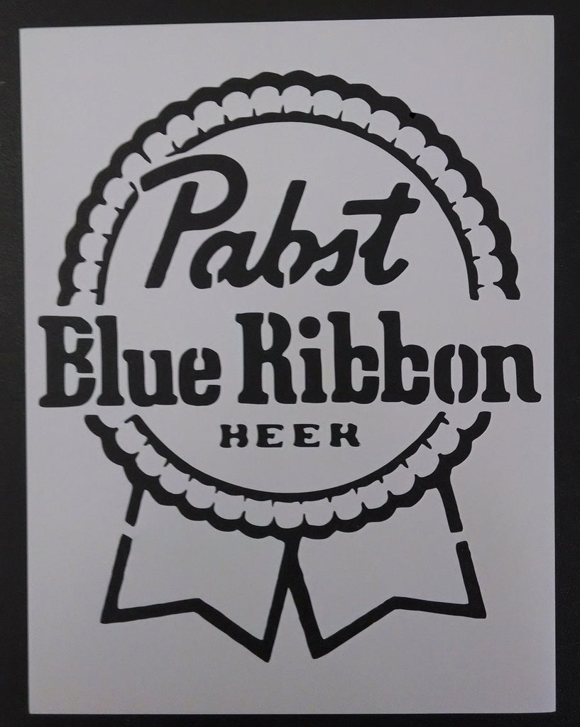PBR Pabst Blue Ribbon Beer - Stencil