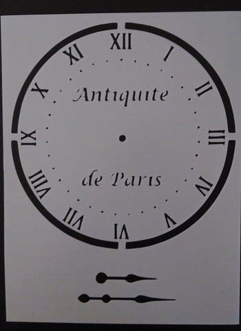 Clock with Hands / Antiquite de Paris - Stencil