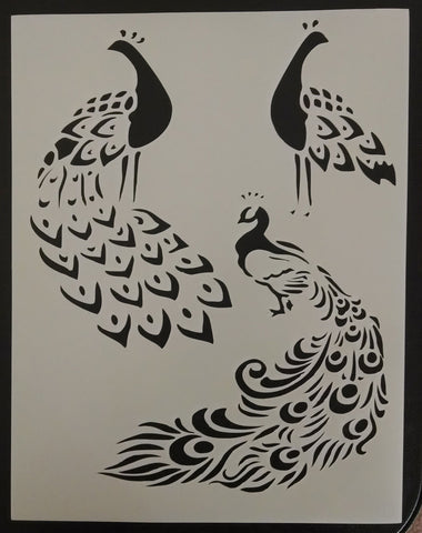 Peacocks - Stencil