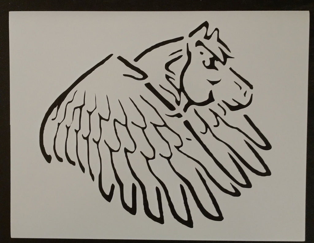 Pegasus Winged Flying Horse - Stencil