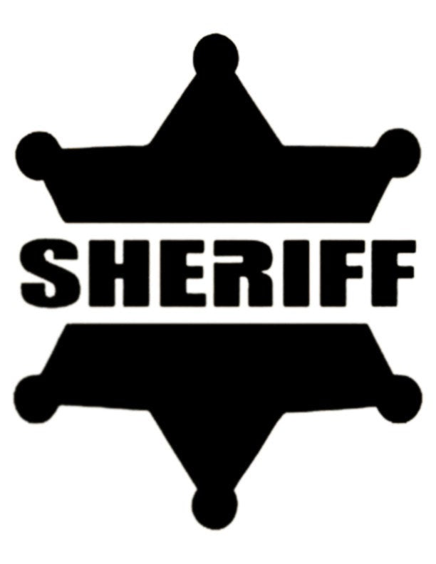 Sheriff Badge - Custom Stencil