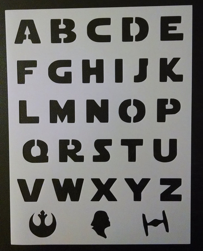 Star Wars Esque Font Alphabet - Stencil