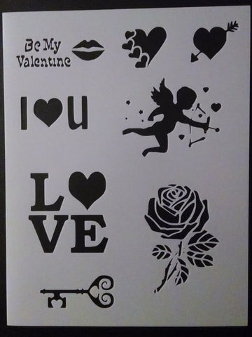 Valentines Day, Love - Stencil
