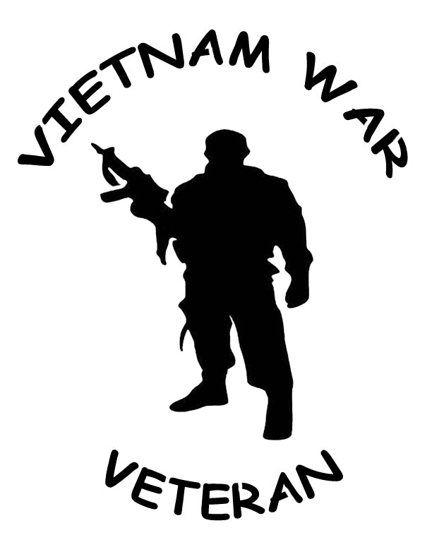 Vietnam War Veteran Soldier Custom Stencil