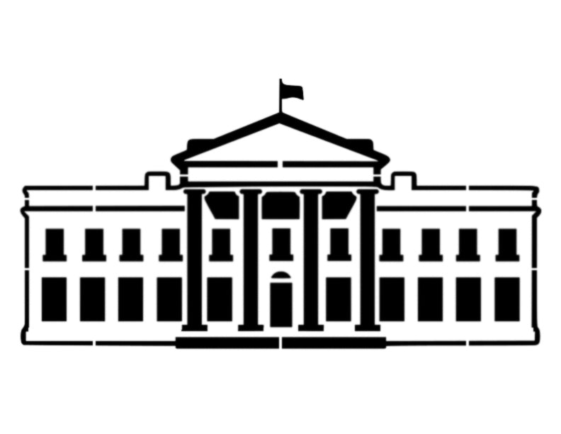 White House Washington DC President - Custom Stencil