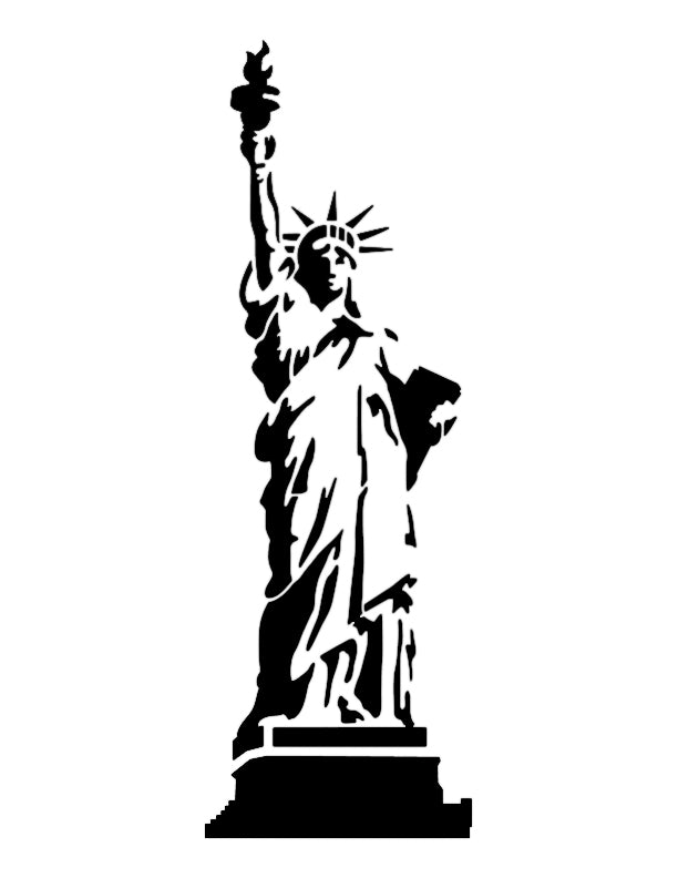 Statue of Liberty Custom Stencil