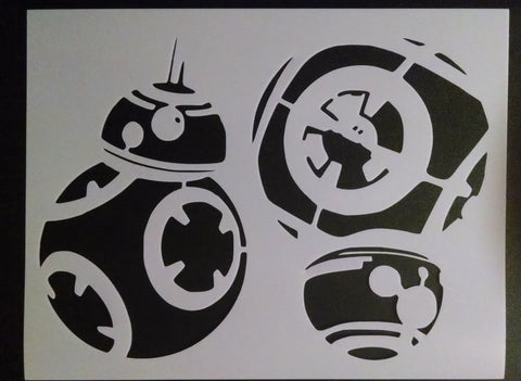 Star Wars Force Awakens BB-8 Droid - Stencil