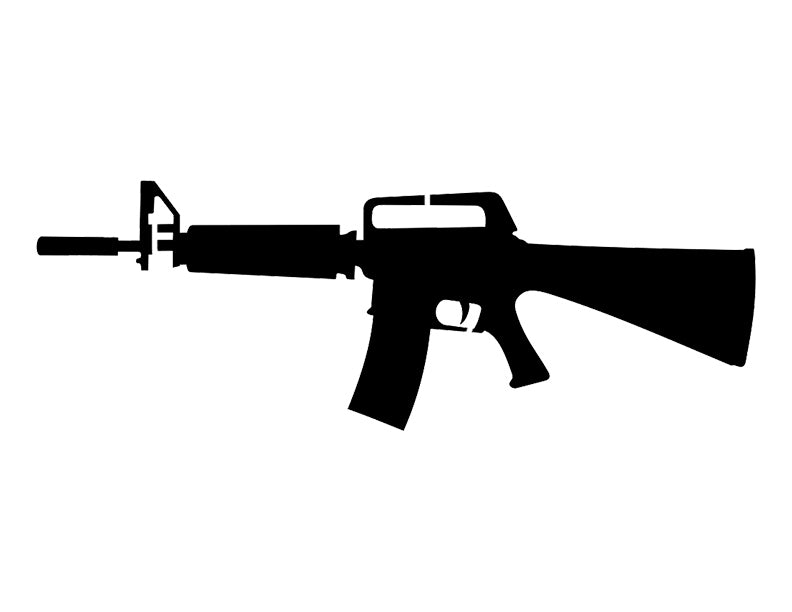M16 M-16 Rifle Gun Custom Stencil