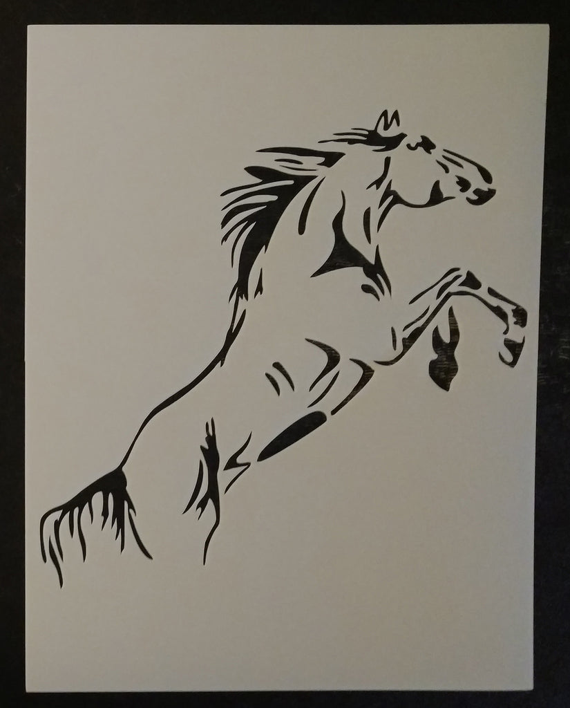 Rearing Horse - Stencil