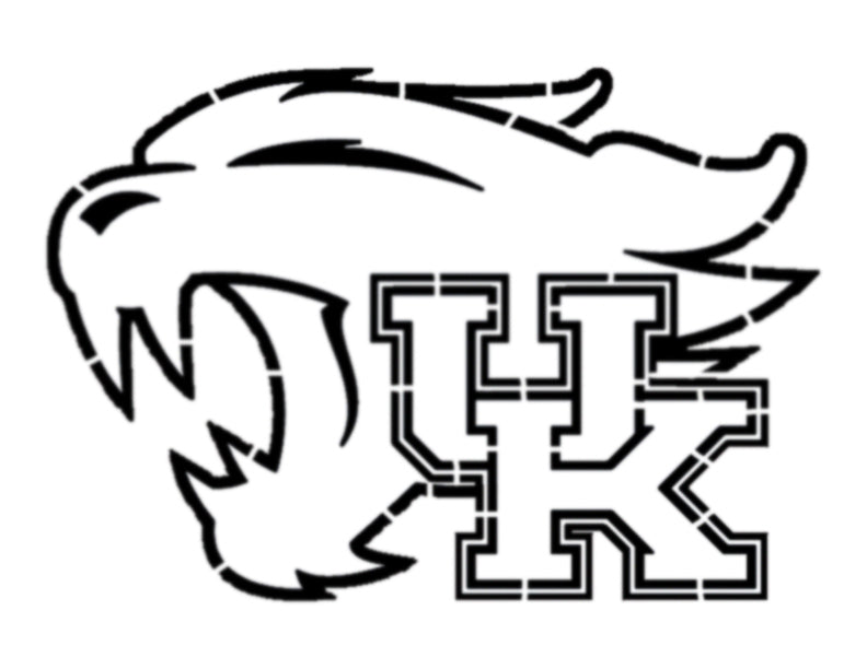 UK University of Kentucky Wildcats - Stencil