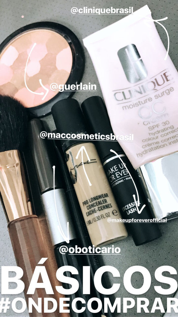 Kit básico de maquiagem Make básicos corretivo o boticário  Mac clinique Bb cream rímel máscara Make Up for