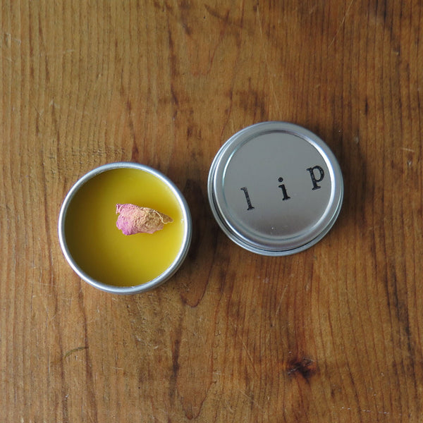Rose Lime Lip Balm Tin