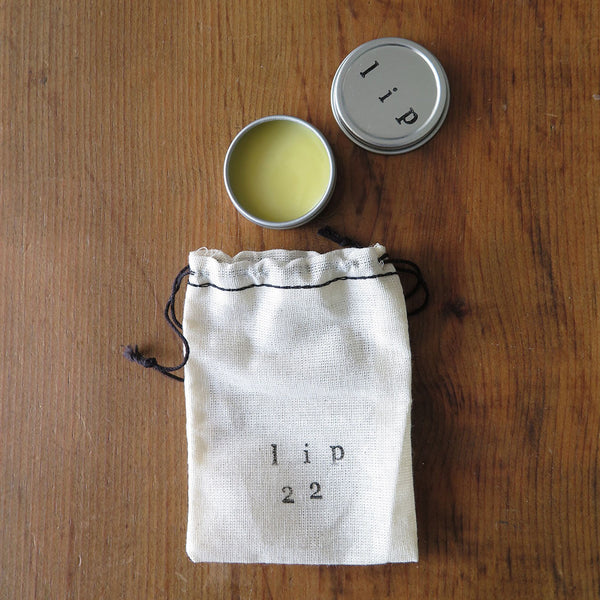Winter Mint Lip Balm Tin with Muslin Bag