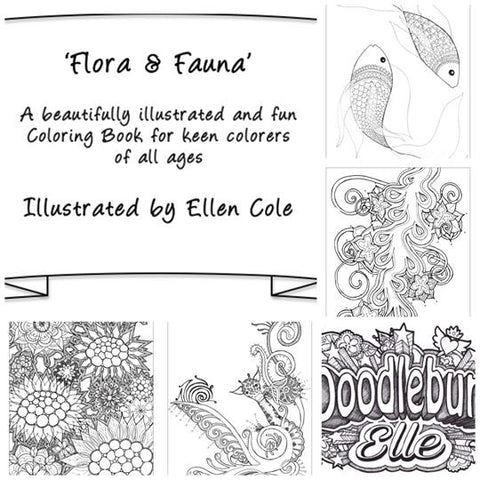 Fun & Unique Colouring Book: 'Flora & Fauna'