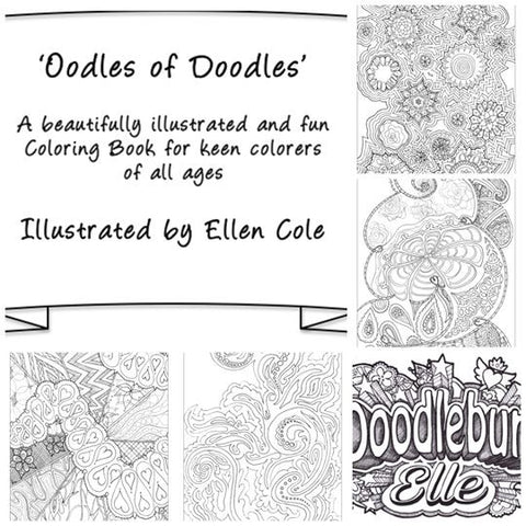 Fun Unique Colouring Book Oodles Of Doodles