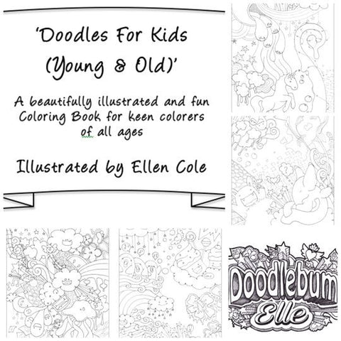 Fun & Unique Colouring Book: 'Doodles For Kids (Young & Old)'
