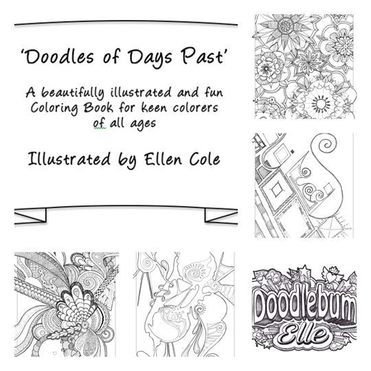 Fun & Unique Colouring Book: 'Doodles Of Days Past'