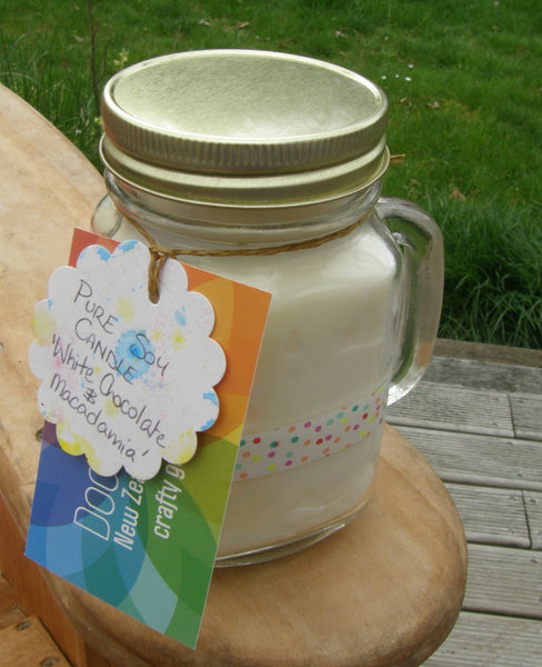 Pure Soy Jar Candle: 'White Chocolate & Macadamia'