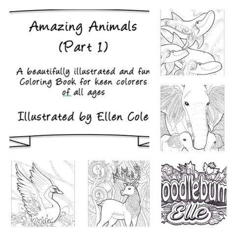 Fun & Unique Colouring Book: 'Amazing Animals Part 1'