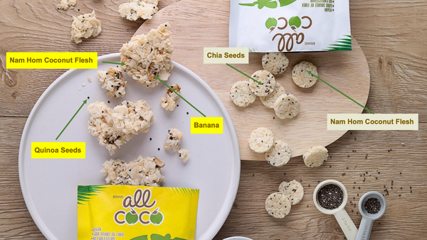 All Coco Crunchy Nam Hom Coconut Bites w/ Chia Seeds (Exclusive Pre-Sale)