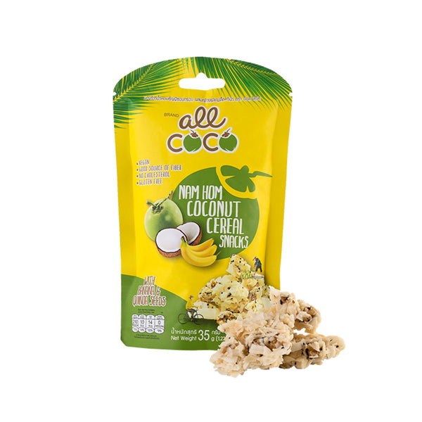 All Coco Nam Hom Coconut Cereal Snacks With Banana & Quinoa Seed