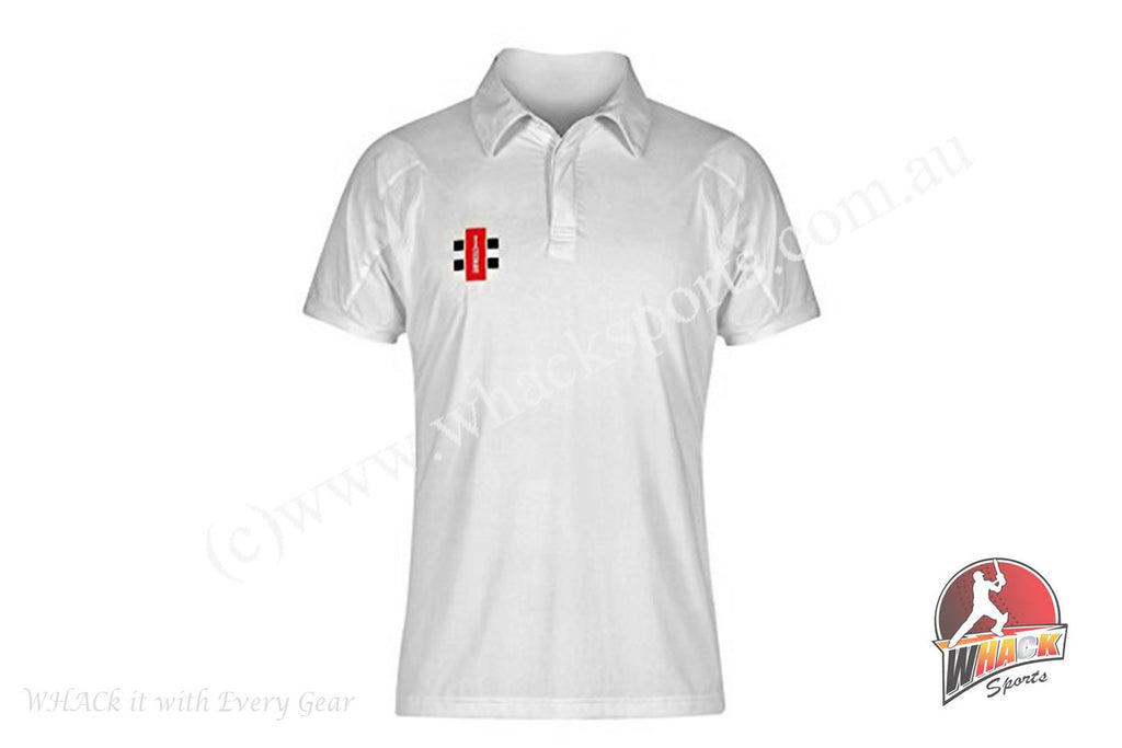 Gray Nicolls Ivory Cream Half Sleeve Cricket Shirt Senior