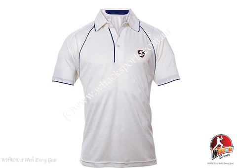 SG Premium Cream Short Sleeve Cricket Shirt Senior