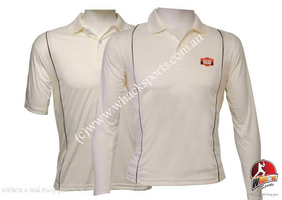 SS Custom Cream Cricket Half  Sleeve Shirt Senior