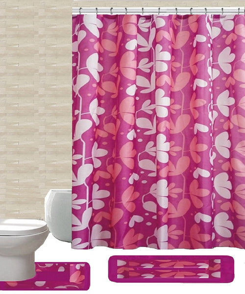 15 Piece Shower Curtain Set Gloria