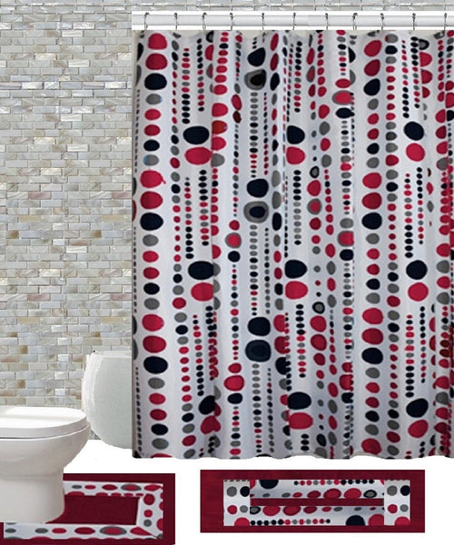 15 Piece Shower Curtain Set Jackie