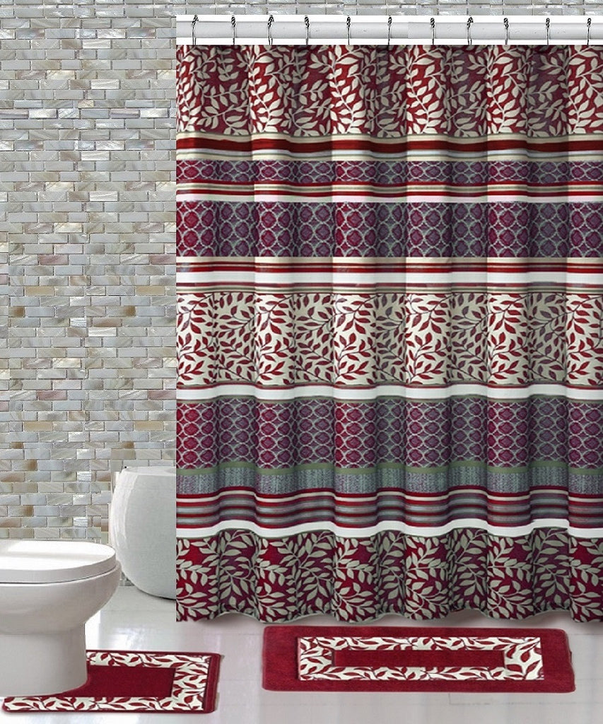 15 Piece Shower Curtain Set Martha