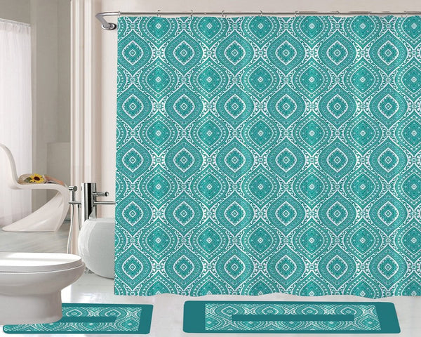 15 Piece Shower Curtain Set Royalton