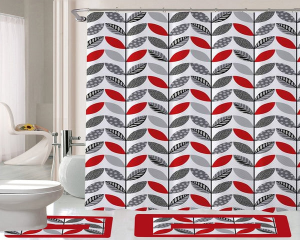 15 Piece Shower Curtain Set Carmella