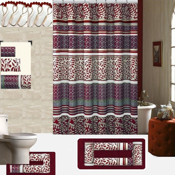 18 Piece Shower Curtain Set Martha