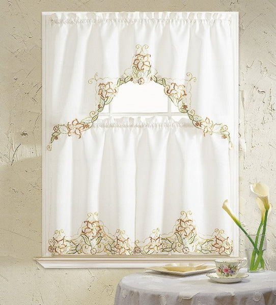 Glory Flower Kitchen Curtain