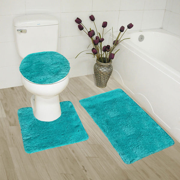 3 Piece Solid  Ultimate  Bath Mat