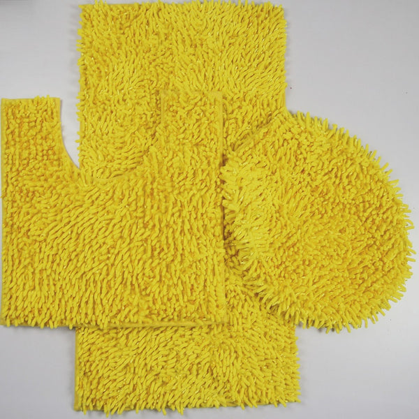 3PC Mix Chenille Bathroom Set
